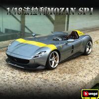 Bburago 1:18 Diecast Alloy Collection Vehicle Car Model For Ferrari MONZA SP1