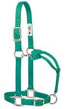 "Weaver Leather Original 1"" Horse Adjustable Throat Snap Nylon Emerald Halter"