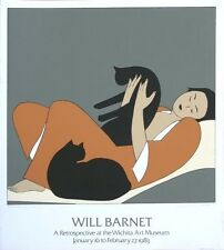 Signed Will Barnet Serigraph Exhibition Poster for The Witchita Art Museum