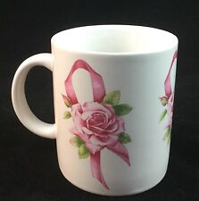 Avon's Breast Cancer Awareness Crusade Coffee Mug Pink Ribbon & Rose Vintage
