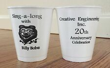 Lot of 10 Creative Engineering 20th Anniversary Billy Bob Cups / ShowBiz Pizza