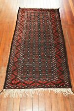 ANTIQUE HAND KNOTTED MINA  KHANI BALOUCH WOOL PILE RUG CIRCA 1890's