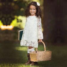 Spitze-Maedchen-Kinder-Blumenmaedchen-Kleid-Kommunionkleid-Hochzeit-Abendklei