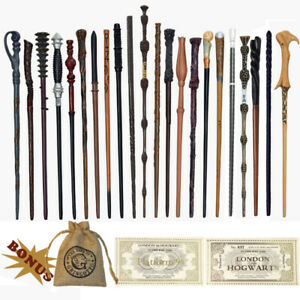 Kinds Potters Magic Wands Metal Core Voldemort Snape all Wands with Gift  27 pcs