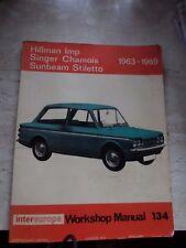 1963-1969 Hillman Imp, Singer Chamois & Sunbeam Stiletto Workshop Manual