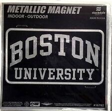 "Boston Terriers 6"" MAGNET Silver Metallic Style Vinyl Auto Home University of"