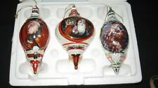 Bradford Exchange Santa Millennial Heirloom Porcelain Ornament Fourth Issue Coa
