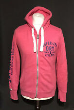 Superdry State Women's Casual Pink Zip Up Hoodie Jumper Large Cotton Blend