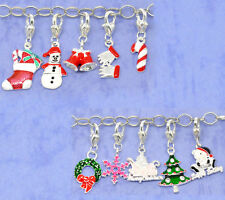 HELLO 20Mixed Christmas Clip On Charms. Fit Chain Bracelet