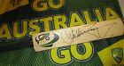 Justin Langer (Australia) signed Green Kookaburra mini Cricket bat + COA & proof