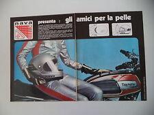 advertising Pubblicità 1973 CASCO NAVA GRANTURISMO e MOTO TRIUMPH