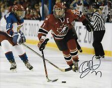 Auto. Cassie Campbell Team Canada 2002 Salt Lake Olympics 8x10 #4 Womens Hockey