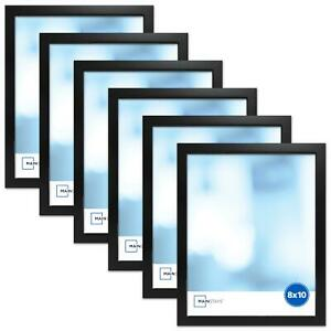 """Black Picture Frame, Set of 6, Select from 8"""" x 10"""", 5"""" x 7"""" and 4"""" x 6"""""""