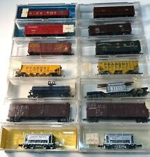 Lot of 15 Assorted N Scale Atlas, Life-Like, and Other Railroad Freight Cars