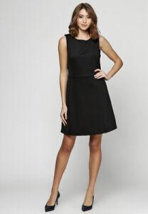 Ladies Mango Vestido Inn A Line Black Dress Size 10 Brand New With Tags