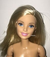 Barbie Made to Move NUDE Doll Jointed Articulated Pivotal Straight Blonde NEW