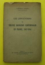 conventions du Théâtre bourgeois contemporain en France