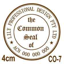 Personalised Custom Self Pre ink Common Seal Company Stamps 40mm CO-7