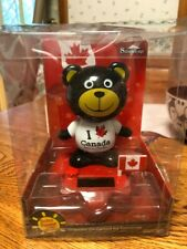 Solar Powered Large Brown Bear Canada Bobblehead Dancing Toy Usa Seller