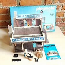 PLAYMOBIL #3430 VINTAGE WESTERN BLACKSMITH