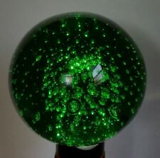 Large Emerald Green Paperweight w/Lots of Bubbles Murano?? Mid Century Modern