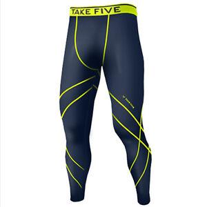 Take Five Mens Skin Tight Compression Base Layer Running Pants Leggings NP532