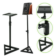 Pair of Near-Field Studio Monitor Stands w/ Adjustable Height PA Speaker Stand