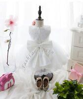 UK Baby Flower Girls Christening Dress Wedding Bridesmaid Gown Birthday Dresses