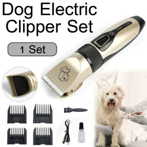 Electric Dog Clipper Comb Set Hair Trimmer Blade Cat Pet Grooming Horse Cordless