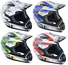 Nuevo Adulto Motocross MX Enduro Quad ATV MTB DH BMX Casco Crash Tapa Todos Los Colores
