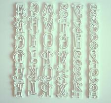 Tappit Lettres majuscules et chiffres, sugarcraft, décoration de gâteaux