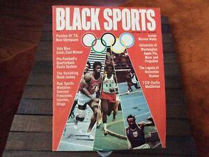 1971 Sep. Black Sports magazine 1972 Olympic Preview, Vida Blue, Oakland A's  EX