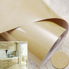 Champagne PVC Wallpaper Roll Self Adhesive Wall Sticker Kitchen Decor 24X98inch