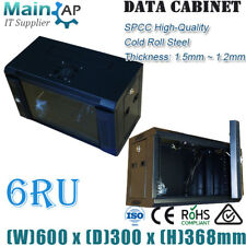 "6U 6RU 19"" 600X300mm Wall Mount Data Cabinet Network Server Rack 300mm Deep"
