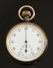 Antique Swiss pocket stop watch c.1900 / montre gousset