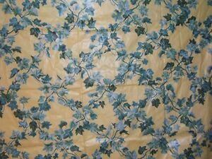 Brunschwig & Fils, English Ivy, Vintage Glazed Chintz, Floral, BTY, Color Yellow