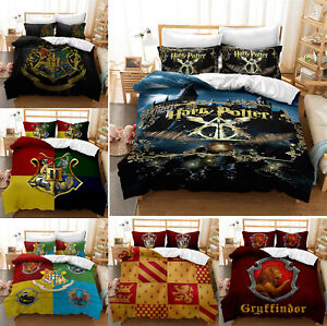 Harry Potter Bedding Set 3PCS Duvet Cover Pillowcases Comforter Cover US Size