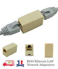 Coupleur d'adaptateur de connecteur LAN femelle réseau Ethernet RJ45 CAT5