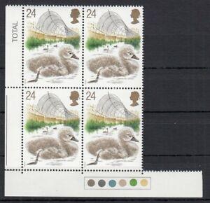 (84710) GB MNH Traffic Light Block 24p Swans 1993