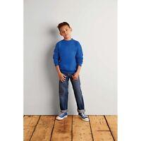 Gildan Kids Heavy Blend Drop Shoulder Sweatshirt Childrens Kids School PE Jumper