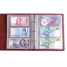 180*80mm 1 Album Pages 3 Pockets Money Bill Note Holder PVC Collection