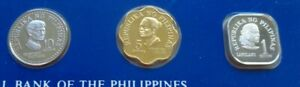 Philippines proof coins 1979 - 1/5/10 sentimos