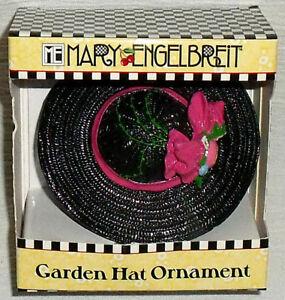 Mary Engelbreit Miniature Black Garden Hat Ornament Vtg But NEW