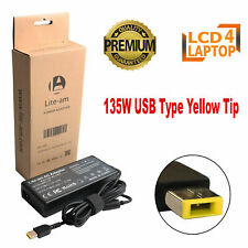 New For ADL135NLC3A Lenovo 20V 6.75A Laptop AC Adapter Battery Charger 135W USB
