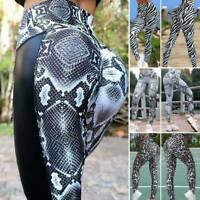 Women Yoga Pants High Waist Printed Sports Leggings Workout Stretch Gym Trousers