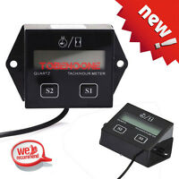 Waterproof Hour Meter Tachometer 2 & 4 Stroke Small Engine Spark For Boat ATV GS
