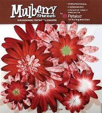 Petaloo Mulberry Paper Flower Embellishments EMBOSSED Tye-Dye Daisies 1310-002 D