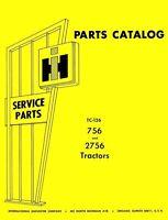 International FARMALL 756 2756 Chassis Parts Manual IH