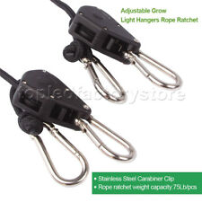 2PCS Rope Ratchet YOYO Hanger Easy Hanging Kit For Grow Tent Light Carbon Filter