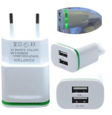 2.0A/1.0A Chargeur Secteur Mini Double Ports USB lumière LED Rapide Chargement